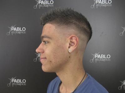 Degradado fade actual en Valencia - Pablo peluqueros