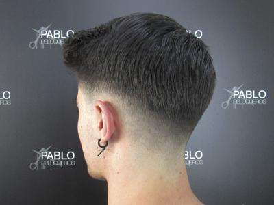 Degradado fade para joven en Valencia - Pablo peluqueros