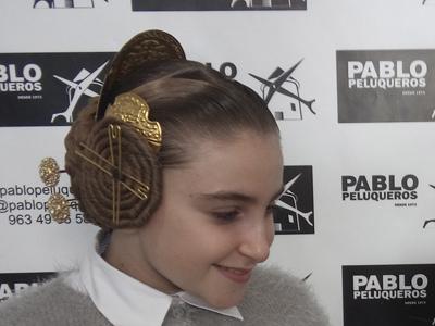 Peinado fallera infantil - Pablo peluqueros