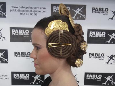 Peinado fallera de Valencia - Pablo peluqueros