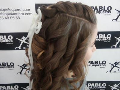 Recogido niñas en Valencia - Pablo peluqueros